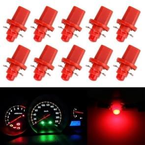 10 PCS 0.4W B8.5 Wedge Instrument Panel COB LED Light Dashboard Gauge Cluster Indicator Lamp Bulb (Red Light)