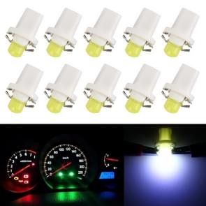 10 PCS 0.4W B8.5 Wedge Instrument Panel COB LED Light Dashboard Gauge Cluster Indicator Lamp Bulb (White Light)
