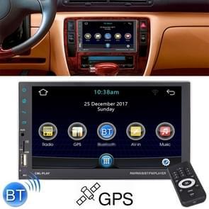 8708 Double Din 7 inch Touchscreen Car Radio Receiver MP5 Player,  Android 7.1.1, Support Rear View Camera & FM & Bluetooth & U-disk / TF Card & GPS
