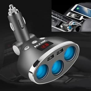ACCNIC 3 multifunctionele sigaret Socket lichter Splitter met 2 USB poorten 3.1a telefoon auto-oplader