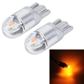 2 PCS T10 2W 2 SMD-3030 LED Car Clearance Lights Lamp  DC 12V (Yellow Light)