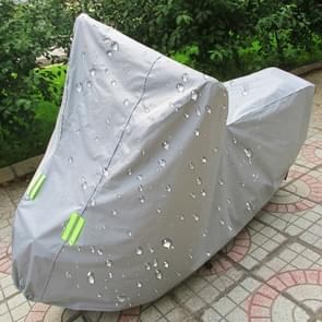 Outdoor Universal Anti-Dust Sunproof Waterproof Motorcycle Aluminum Film Flocking Cover with Warning Strips, Fits Bike up to 2.3m(90 Inches) In Length, Size: 232x100x125cm