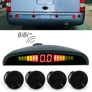 Digital LED Crescent Shape Display Rear View Mirror Car Recorder for Truck with 4 Rear Radar