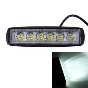 DC 10-30V 18W 1500LM 6500K waterdichte voertuig auto boot mariene extern werk lichten nood verlichting 30 graden verstelbaar vlek licht LED auto lampen met 6 intens Wafer LED Lights(White Light)