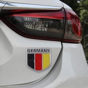 Germany Flag Style Metal Car Sticker