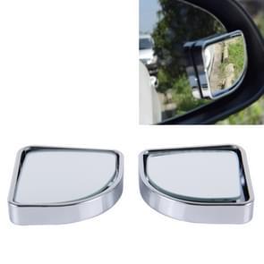 3R-015 2 PC's auto Dodehoek groothoek achteruitkijkspiegel  Diameter: 5cm(Silver)