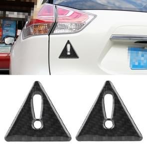 2 PC's auto-Styling driehoek koolstofvezel waarschuwing Sticker decoratieve Sticker(Black)
