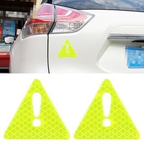 2 PCS Car-Styling Triangle Carbon Fiber Warning Sticker Decorative Sticker(Green)