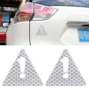 2 PCS Car-Styling Triangle Carbon Fiber Warning Sticker Decorative Sticker(White)