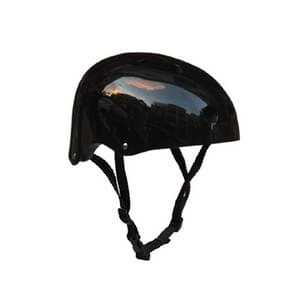 Climbing Equipment Safety Helmet Cave Rescue Children Adult Helmet Development Outdoor Hiking Skiing Supplies Suitable Head Circumference: 50-54cm, Size: S(Black)