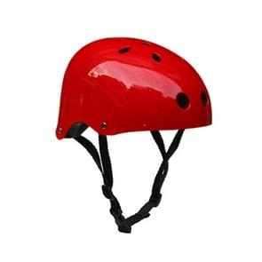 Climbing Equipment Safety Helmet Cave Rescue Children Adult Helmet Development Outdoor Hiking Skiing Supplies Suitable Head Circumference: 57-60cm, Size: L(Red)