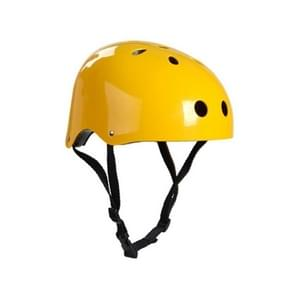 Climbing Equipment Safety Helmet Cave Rescue Children Adult Helmet Development Outdoor Hiking Skiing Supplies Suitable Head Circumference: 57-60cm, Size: L(Yellow)