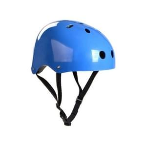 Climbing Equipment Safety Helmet Cave Rescue Children Adult Helmet Development Outdoor Hiking Skiing Supplies Suitable Head Circumference: 57-60cm, Size: L(Blue)