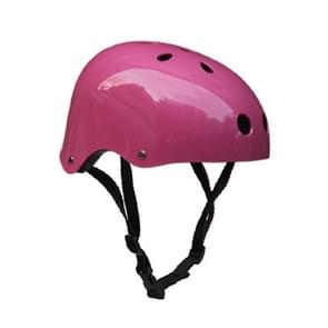 Climbing Equipment Safety Helmet Cave Rescue Children Adult Helmet Development Outdoor Hiking Skiing Supplies Suitable Head Circumference: 57-60cm, Size: L(Pink)