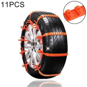 11 PCS Car Tire Emergency Double Grid Anti-skid Chains Tyre Anti-slip Chains