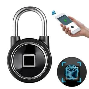 Waterproof Intelligent Bluetooth Fingerprint Padlock Remote Unlocking for iOS / Android (Black)