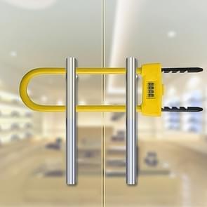 Glazen deur dubbel open U-Lock anti hydraulische shear verlengde mechanische code slot (geel)