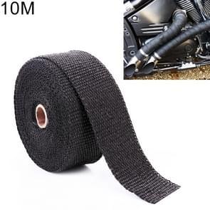 10m Cotton Material Exhaust Wrap Auto Motorcycle Exhaust Heat Shield Wrap Heat Resistant Wrap, Random Color Delivery