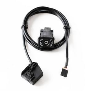 AUX Adapter schakelen Plug + bedrading hardheid voor Volkswagen Audi MFD2 RNS2 / Ford  kabel lengte: 1.5m