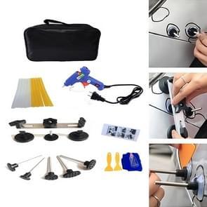 22 PCS Auto Car Body Dent Repair Tools Pulling Bridge Dent Removal Lifter Puller, with 20W Glue Gun, US Plug or EU Plug