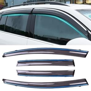 4 PCS Window Sunny Rain Visors Awnings Sunny Rain Guard for Honda Fit 2008-2013 Version Second Generation Hatchback