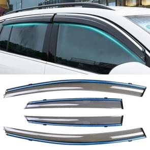 4 PCS Window Sunny Rain Visors Awnings Sunny Rain Guard for Ford Fiesta 2010-2018 Version Sedan