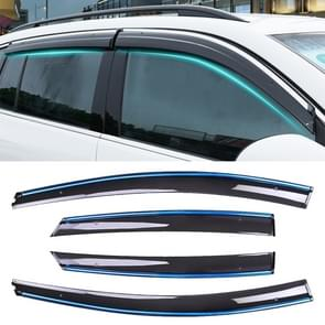 4 PCS Window Sunny Rain Visors Awnings Sunny Rain Guard for Ford Focus 2012-2018 Version Sedan