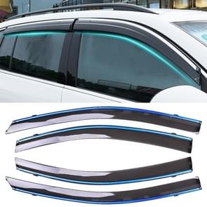 4 PCS Window Sunny Rain Visors Awnings Sunny Rain Guard for Toyota Vios 2014-2018 Version