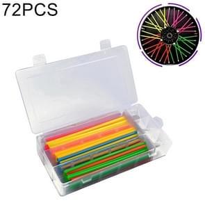 72 stuks 17cm kleurrijke wiel gewijzigd sprak huid Cover Wrap Kit voor pijp motorfiets / Motocross / fietsen