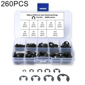 260 PCS Car E Shape Circlip Snap Ring Assortment Retaining Rings