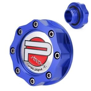 Car Modified Stainless Steel Oil Cap Engine Tank Cover for Honda, Size: 5.5 x 3.5cm(Blue)
