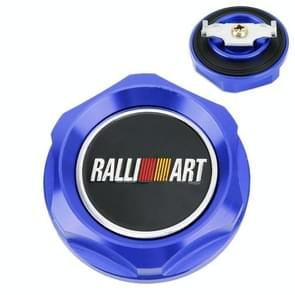 Car Modified Stainless Steel Oil Cap Engine Tank Cover for Mitsubishi, Size: 5.6 x 2.6cm(Blue)