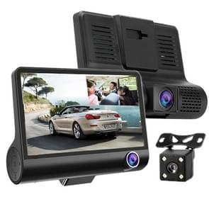 4 0 inch IPS-scherm 5 0 megapixels 170 graden Groothoek Full HD 1080P 3 Channels Video Car DVR  Support Night Vision Fill Light / ReversIng Visual / TF Card(32GB Max) / G-sensor / Motion Detection