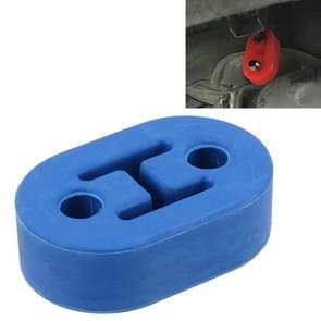 Universele auto twee gaten verstelbare Rubber montage beugel uitlaat buis opknoping Rubber Tube auto uitlaatpijp opknoping Shackle opknoping uitlaat opknoping van Ear(Blue)