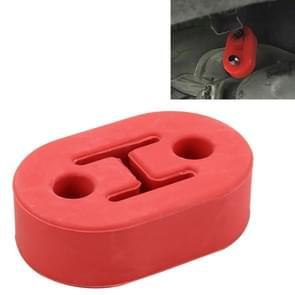 Universele auto twee gaten verstelbare Rubber montage beugel uitlaat buis opknoping Rubber Tube auto uitlaatpijp opknoping Shackle opknoping uitlaat opknoping van Ear(Red)
