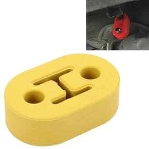 Universele auto twee gaten verstelbare Rubber montage beugel uitlaat buis opknoping Rubber Tube auto uitlaatpijp opknoping Shackle opknoping uitlaat opknoping van Ear(Yellow)