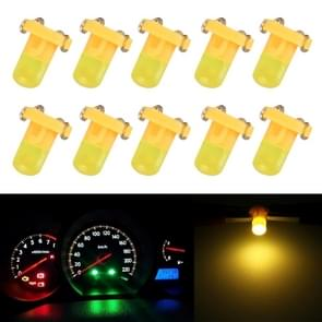 10 PCS 2W T3 Wedge Instrument Panel LED Light Dashboard Gauge Cluster Indicator Lamp Bulb(Amber)