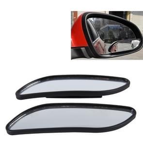 3R-067 2 PC's auto Dodehoek- en breed achterzijde bekijken groothoek verstelbare Mirror(Black)