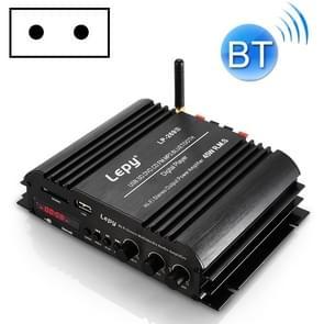 Auto/huishouden vier kanalen LED display versterker audio  ondersteuning Bluetooth/MP3/USB/FM/SD-kaart met afstandsbediening  EU-plug