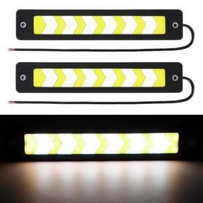 2 PC's 6W LED Daytime Running Lights Lamp COB LED's functie lampen  DC 12V (Warm wit licht)