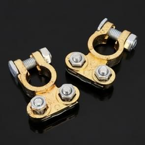 2 PCS Positive and Negative Car U Shape Metal Battery Connectors Terminals Clamps Clips, L Size, Inner Diameter: 16mm