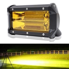 5 inch 18W 24 LED waterdichte IP67 twee bar gemodificeerde off-road lights Spotlight licht auto werklichten  DC 9-48V (geel licht)