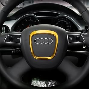 Car Auto Steering Wheel Decorative Ring Cover Trim Sticker Decoration for Audi (Gold)