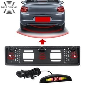 PZ300L Europe Car License Plate Frame Parking Sensors Reversing Radar with 3 Radar Detector