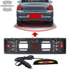 PZ300L-W Wireless Europe Car License Plate Frame Parking Sensors Reversing Radar with 3 Radar Detector