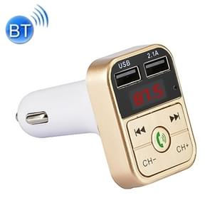 B2 Dual USB Charging Bluetooth FM Transmitter MP3 Music Player Car Kit, Support Hands-Free Call  & TF Card & U Disk (Gold)