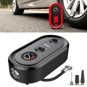DC12V 120W Portable Mechanical Dial Display Air Pump Tire Inflator Car Tire Pump Inflatable Pump(Black)