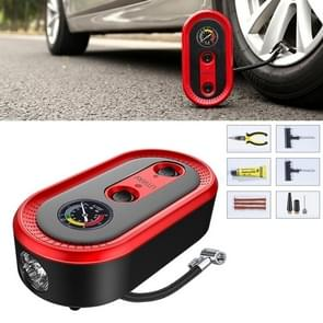 9 in 1 DC12V 120W Portable Toolbox Mechanical Dial Display Air Pump Tire Inflator Car Tire Pump Inflatable Pump
