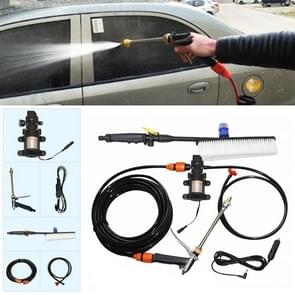 DC 12V Portable Single Pump + Brush High Pressure Outdoor Car Cigarette Lighter Washing Machine Vehicle Washing Tools
