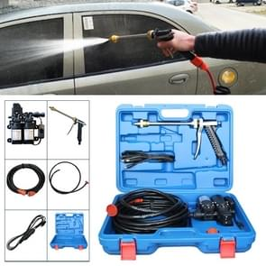 DC 12V Portable Double Pump High Pressure Outdoor Car Cigarette Lighter Washing Machine Vehicle Washing Tools, with Storage Box
